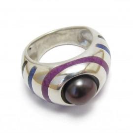 Авторски сребърен пръстен с перла